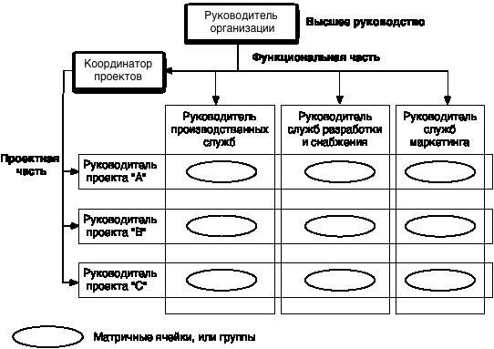 Принципиальная схема матричной